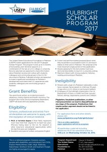 USEFP Fulbright Scholar Program 2017