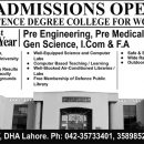 Defence Degree College For Women Admission 2018