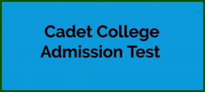 Cadet College Admission Test, Online MCQs, Sample Paper