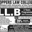 Toppers Law College Lahore Admission 2018