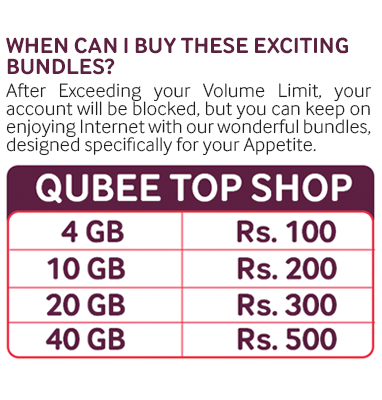 Limited & Unlimited Qubee Internet Packages 2018 1 MB to 4 MB