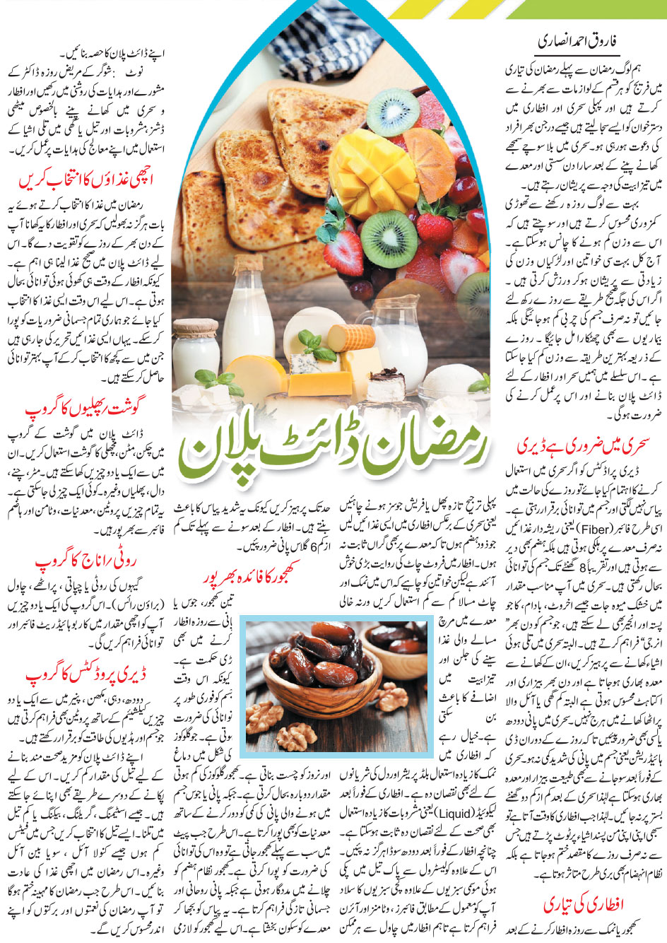 Ramadan Diet Plan For Weight Loss in Urdu