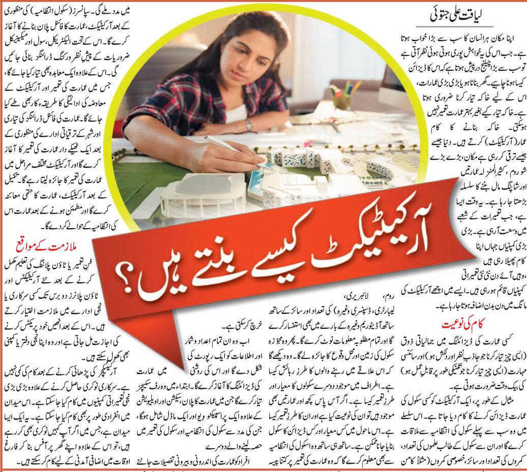 Become An Architect-Architecture Scope, Career, Jobs, Tips in Urdu & English