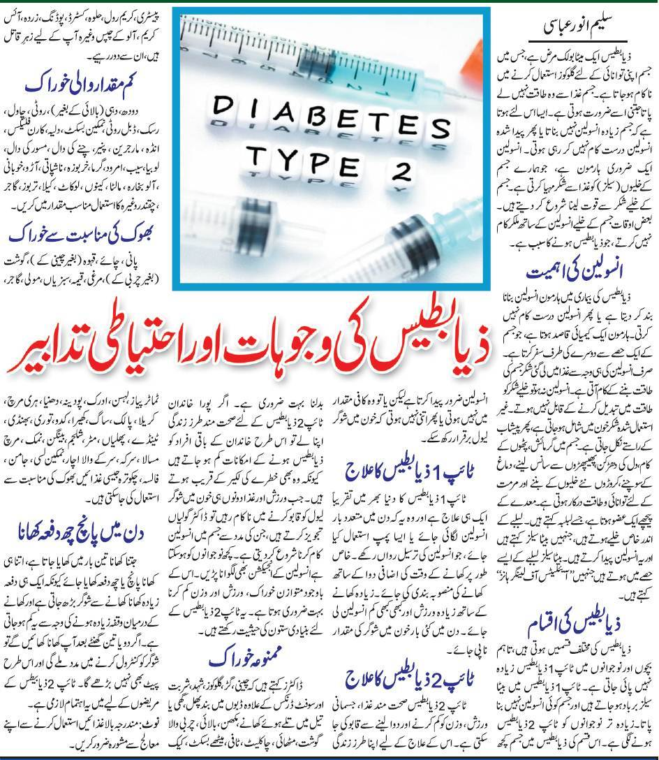 All About Diabetes, Types, Treatment, Recommended Diet (Urdu & English)