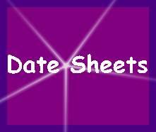 Sargodha Board Matric 9th & 10th Class Date Sheet 2020