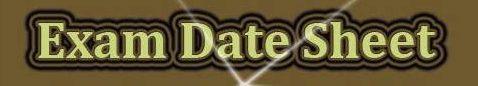 Date Sheet 2021