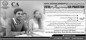 CA Pakistan Talent Hunt Program 2016