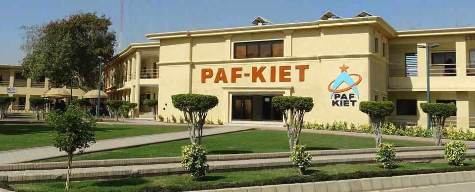 PAF Kiet College Of Engineering Admission 2019