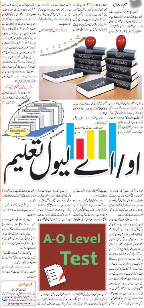 What is the Scope of O-Level & A Level in Pakistan? Urdu Guide
