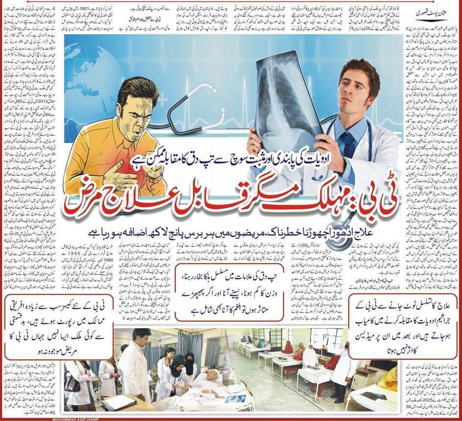 All About Tuberculosis in Urdu & English, TB Symptoms, Precautions & Treatment