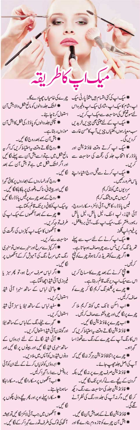 Best Makeup Tips in English & Urdu Languages