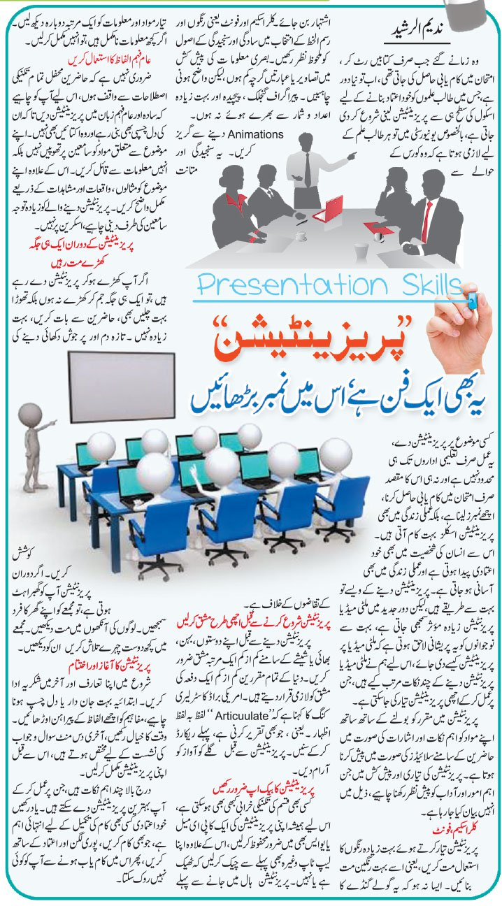 How To Improve Presentation Skills? Self Help Tips in Urdu & English