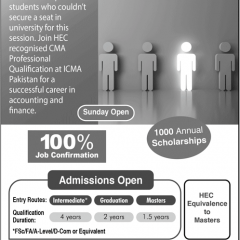 ICMA Pakistan CMA Admission 2020, Apply Online