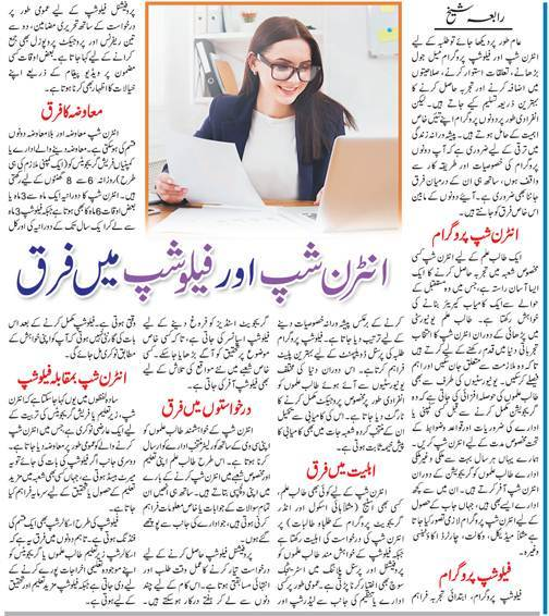 Key Differences Between Internship & Fellowship (Urdu-English)