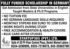 Fully Funded Scholarships in Germany For Pakistani Students in 2020
