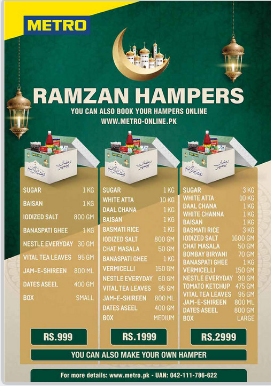 Metro Promotions 2021 For Ramadan, Rate List of New Offers in LHR, KHI, ISL & FSD