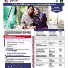 Merit & Need Based USAID Scholarships 2022 for Girls, Apply Online