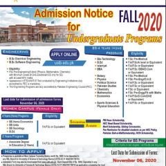 University Of Science & Technology Bannu Admission 2020