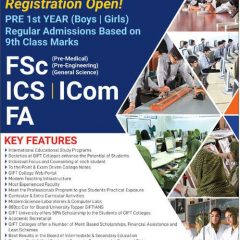 Gift Group Of Colleges Inter 1st Year Admission 2019